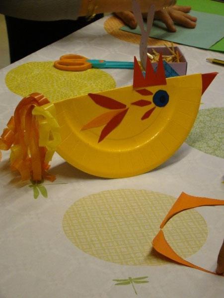 Bricolage de Pâques - activité bibiliothèque de Beure