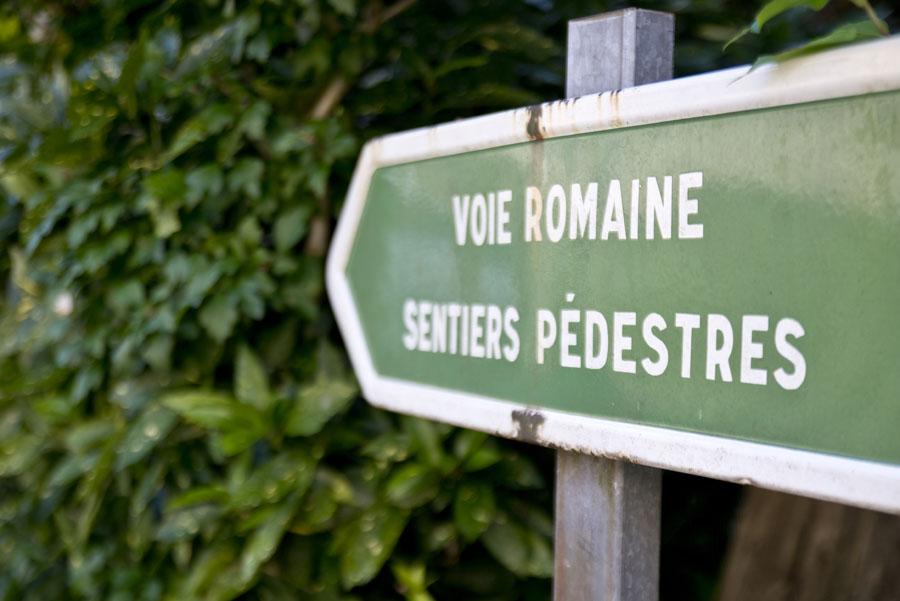Pencarte de la voie Romaine, sentier Pédestre à Beure